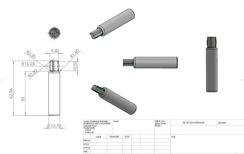wood cutter end mill custom design
